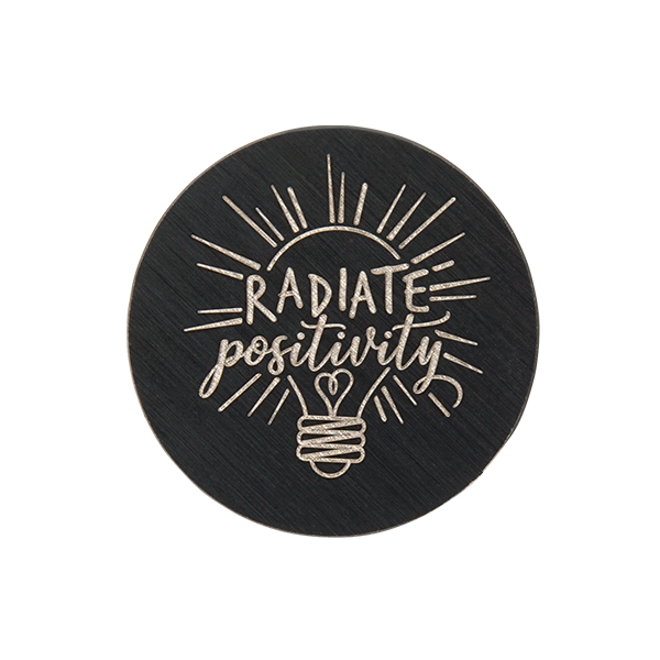 Medium Black Radiate Positivity Plate SKU PB9334