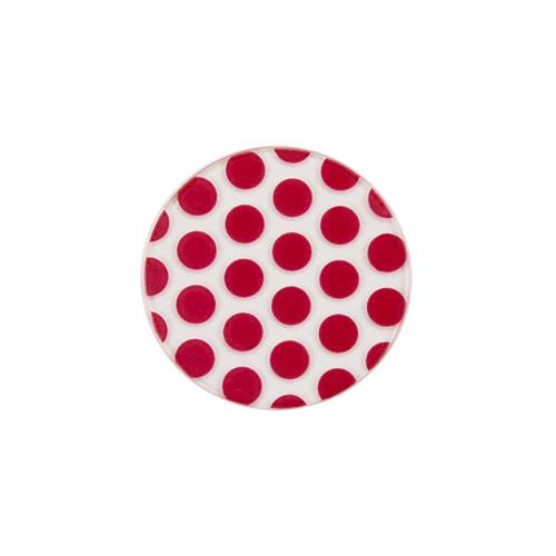 PC1002 Medium Red Clear Polka Dots v2