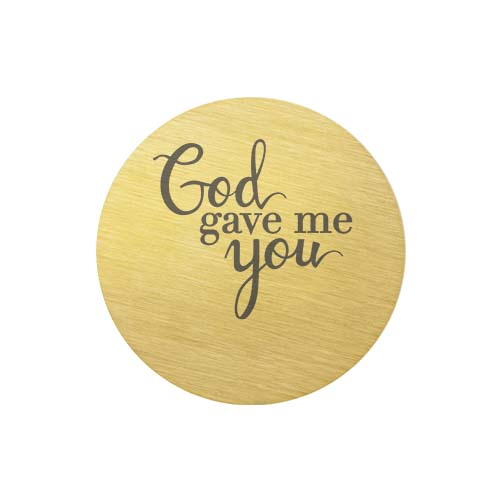 PG9315 Large Gold God Gave Me You Plate copy