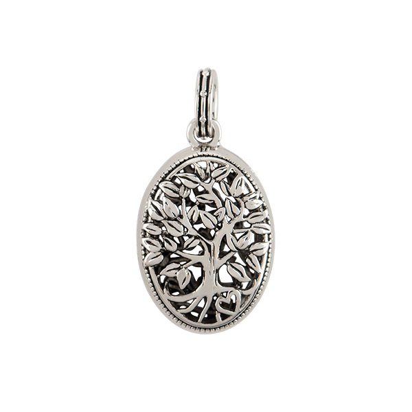 Silver Tree of Life Stardust Locket Charm Pendant SKU PN2010