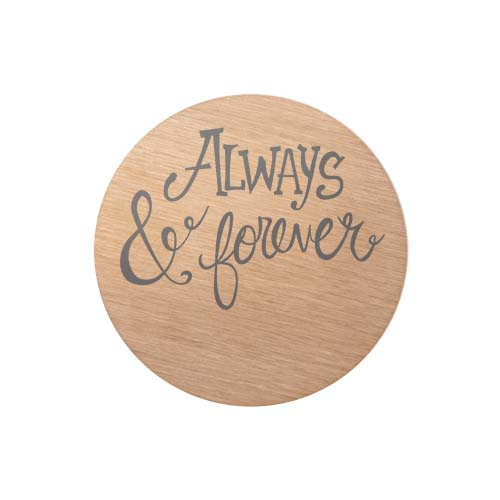 PR9316 Large RoseGold Always and Forever Plate copy