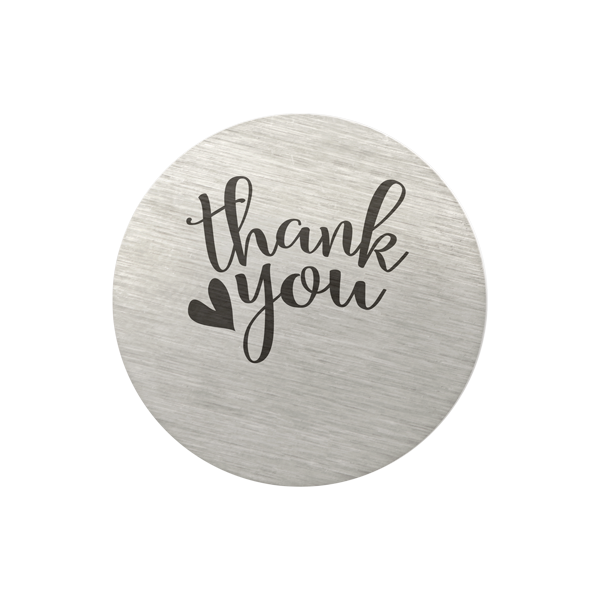 Medium Silver Thank You We re all in this together Plate SKU PS9204