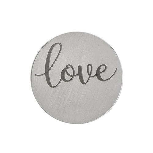 PS9309 Large Silver  Love  Plate