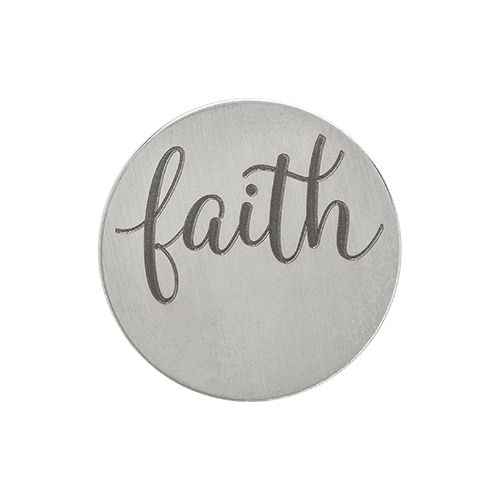 PS9310 Large Silver  Faith  Plate