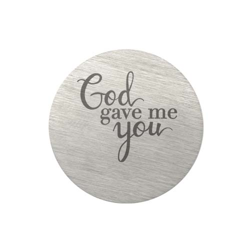 PS9315 Large Silver God Gave Me You Plate copy