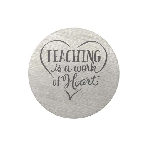 PS9317 Large Silver Teaching Is a Work Of Heart Plate copy