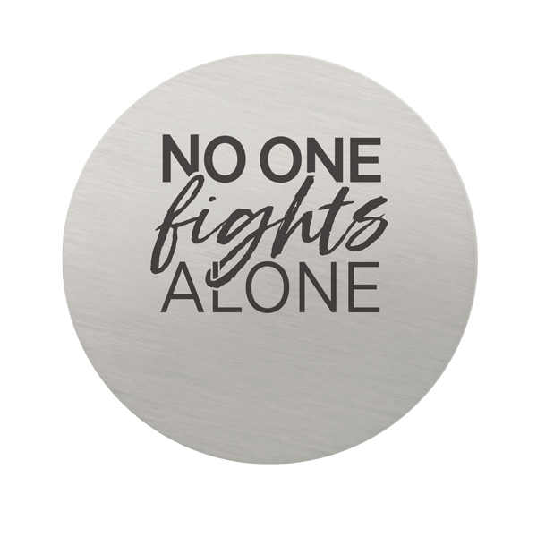 PS9329 LargeSIlver NoOneFightsAlone Plate