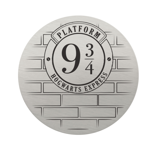 Harry Potter Large Silver Platform 9 3 4 Plate SKU PS9331