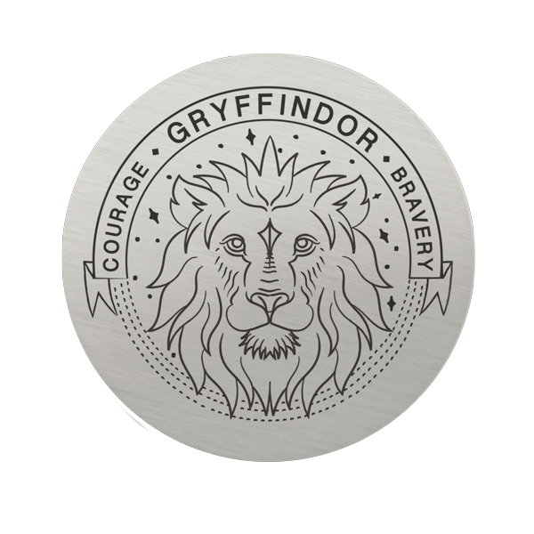 Harry Potter Large Silver Gryffindor House Plate SKU PS9332