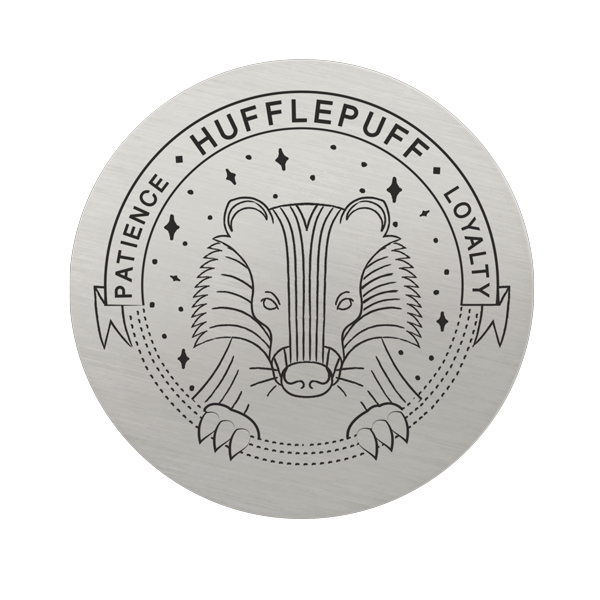Harry Potter Large Silver Hufflepuff House Plate SKU PS9335
