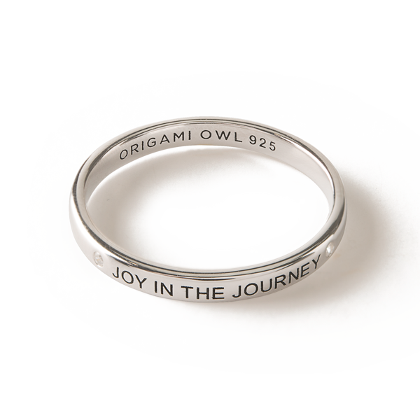 Silver Joy in the Journey CZ Stacking Band Ring 10 SKU RN1010