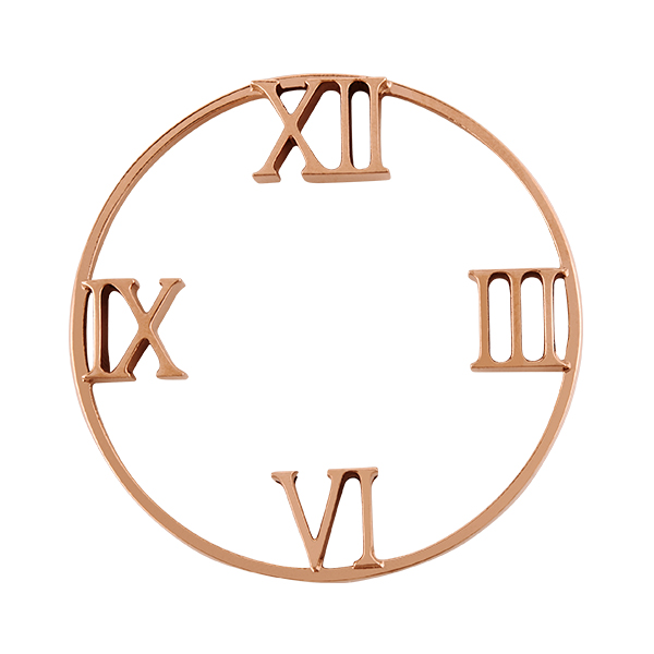 Rose Gold Roman Numeral Time Marker Living Locket Watch Window Shelf SKU WF5004