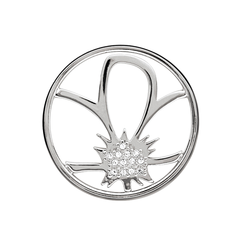 WN1007 Large Silver Flower Window Plate