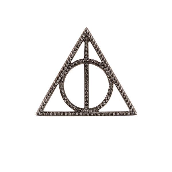 Harry Potter Gunmetal Deathly Hallows Window Shelf SKU WN1031