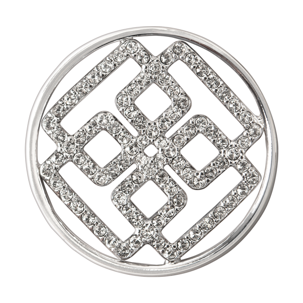 Large Silver Greek Key Window Plate SKU WN1037